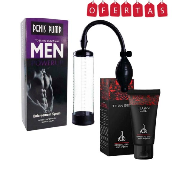 Penis Pump + TitanGel, Imagen del Producto.